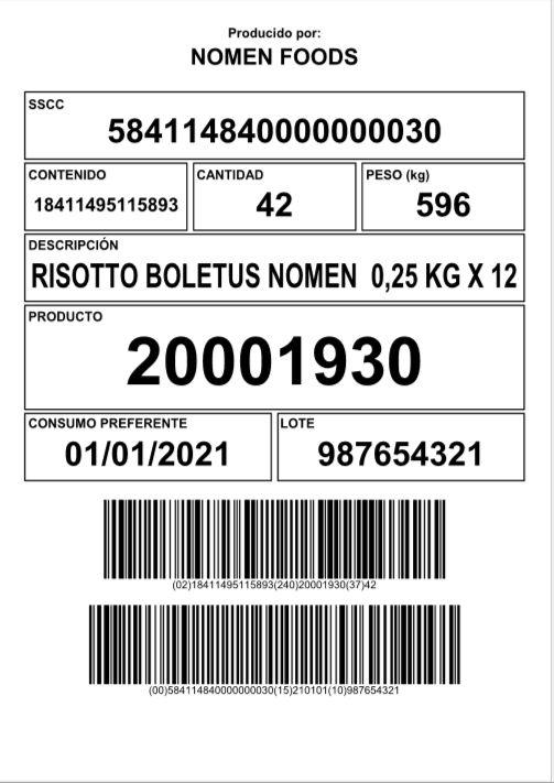 Etiqueta de codificació